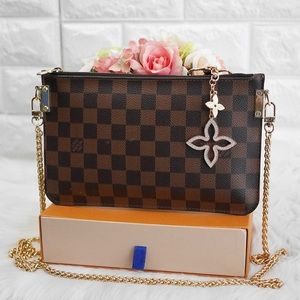 💖LV Neverfull Damier GM Pouch on Chain SD1104